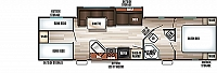 2019 Forest River Cherokee Grey Wolf 29TE Travel Trailer Two Bedroom