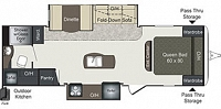 2016 Keystone Laredo 27RB LHT Travel Trailer