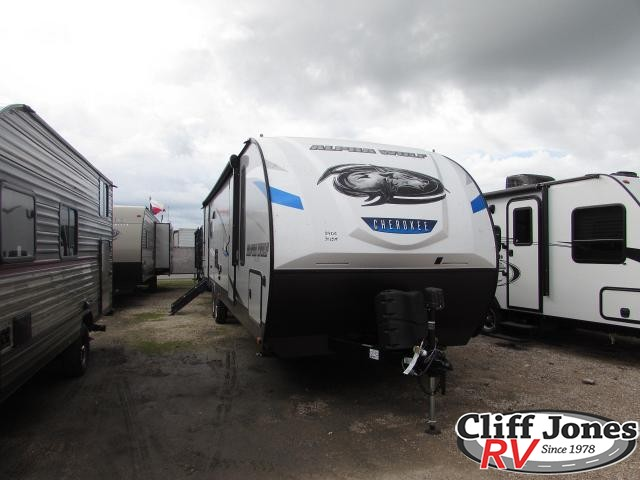 2019 Forest River Alpha Wolf 29DQ Travel Trailer Front left end