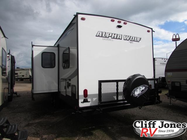 2019 Forest River Alpha Wolf 29DQ Travel Trailer Rear left end