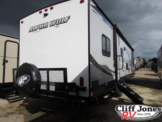 2019 Forest River Alpha Wolf 29DQ Travel Trailer Rear right end