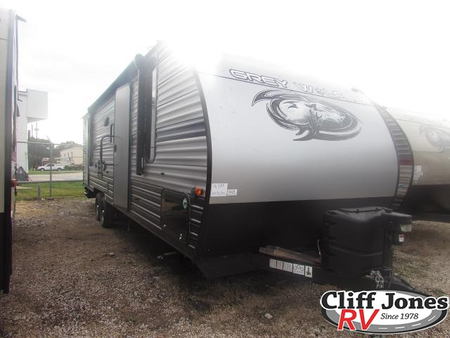 2019 Forest River Cherokee Grey Wolf 26DBH Travel Trailer Front left end