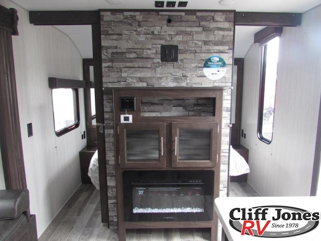 2019 Forest River Cherokee Grey Wolf 26DBH Travel Trailer Entertainment Center